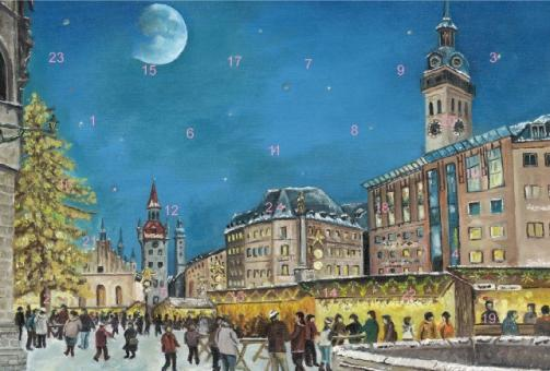 Adventskalender München - Christkindlmarkt am alten Rathaus ohne Glitzer