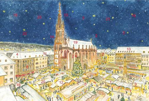 Adventskalender Würzburg - Frohes Treiben auf dem Weihnachtsmarkt ohne Glitzer