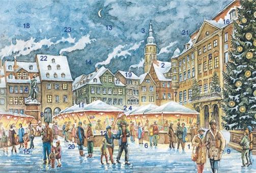 Adventskalender Coburg - Christkindlesmarkt mit Glitzer