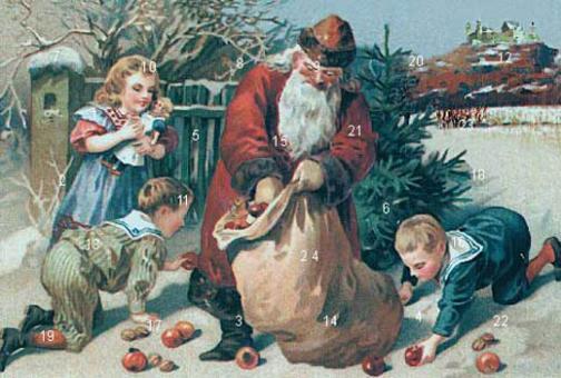 Coburg - Sankt Nikolaus beschert die Kinder mit Nüssen und Äpfeln