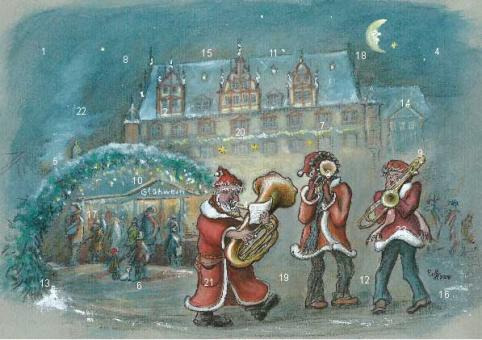 Adventskalender Coburg - Musikanten auf dem Coburger Weihnachtsmarkt