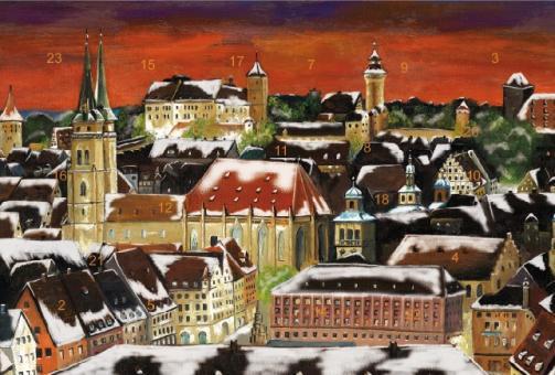 Adventskalender Nürnberg - Weihnachtsstimmung über der Altstadt