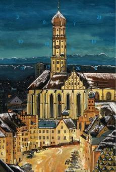 Adventskalender Augsburg - St. Ulrich mit Alpenpanorama