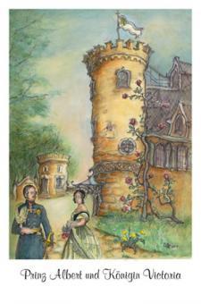 Kunstkarte - Prinz Albert und Königin Victoria auf Schloss Rosenau
