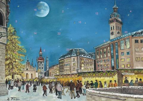 Wand-Adventskalender München - Christkindlmarkt am alten Rathaus
