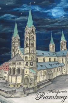 Kunstkarte Bamberg - Weltkulturerbe, Dom