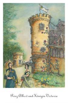Kunstkarte Coburg - Prinz Albert und Königin Victoria Rosenau