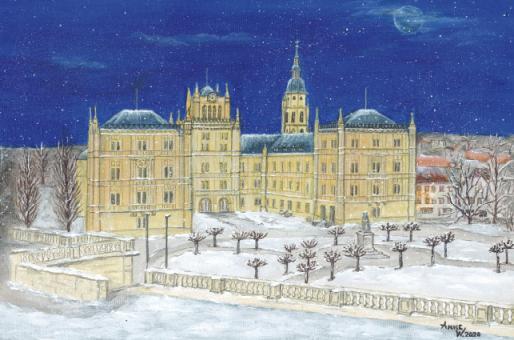 Kunstkarte Coburg - Schloss Ehrenburg