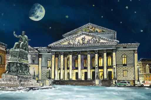 Kunstkarte München - Nationaltheater