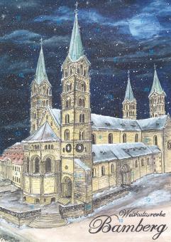 Wand-Adventskalender Bamberg - Weltkulturerbe, Dom