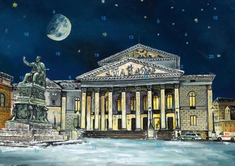 Wand-Adventskalender München - Nationaltheater