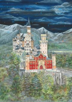 Wand-Adventskalender - Schloss Neuschwanstein