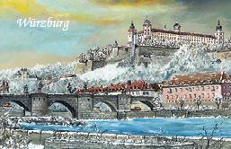 Magnet Würzburg - Alte Mainbrücke im Winter