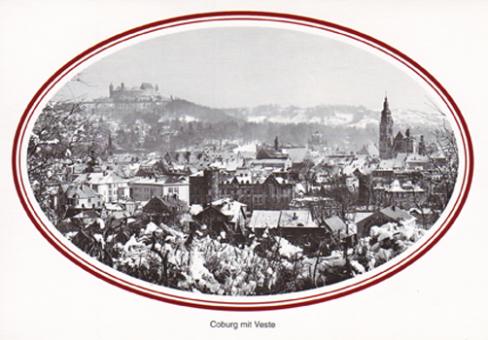 Fotokarte Coburg - Stadt mit Veste