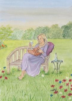 Kunstpostkarte - Margarete