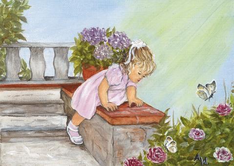 Kunstpostkarte - Rosalie