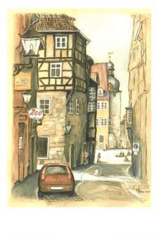 Kunstkarte Coburg - Steingasse