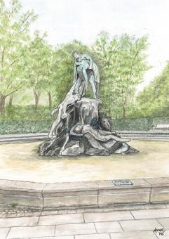 Kunstpostkarte - Sintflutbrunnen