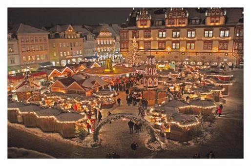 Kunstkarte Coburg - Coburger Weihnachtsmarkt