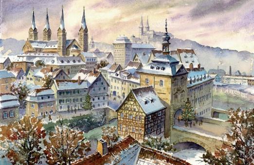 Magnet Bamberg- Weihnachtliche Stimmung über der Altstadt