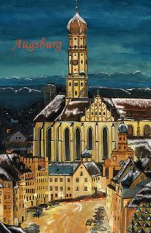 Magnet Augsburg - St. Ulrich mit Alpenpanorama