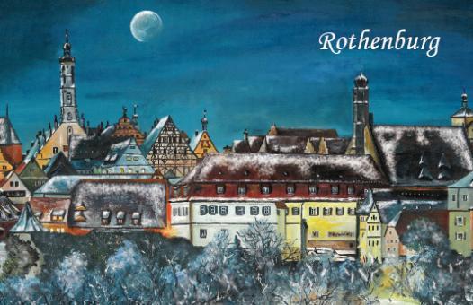 Magnet Rothenburg - Weihnachtliche Stimmung über der Altstadt