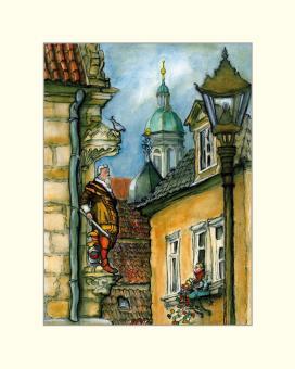 Coburg - Blick auf Herzog Casimir und Rathausturm