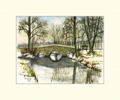 Gauerstadt - Alte Steinbrücke über die Rodach