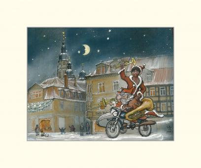 Coburg - Mohr am Albertsplatz im Winter