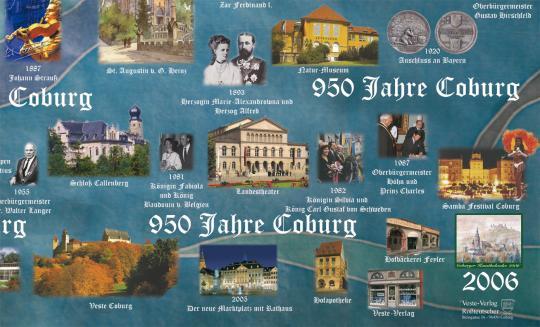 Jubiläumsgeschenkpapier 950 Jahre Coburg