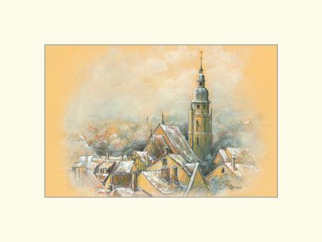 Coburg - Rauhreif über St. Moriz