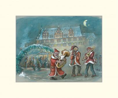Coburg - Musikanten vor dem Christkindlesmarkt