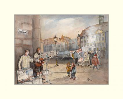 Coburg - Musikanten am Stadthaus