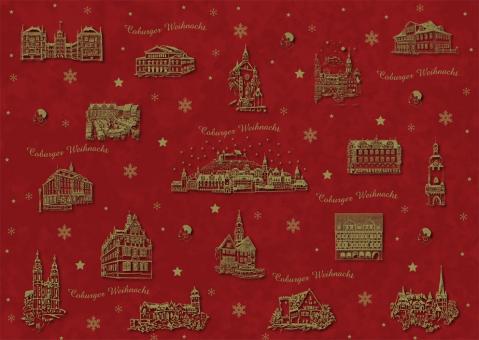 Coburger Weihnachtsgeschenkpapier