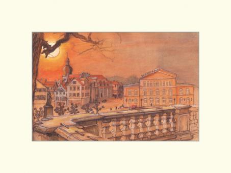 Coburg - Arkaden mit Landestheater